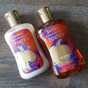 Sweet cinnamon pumpkin body wash and lotion set